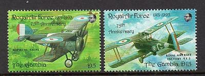 Gambia MNH 1993 75th Anniversary of the RAF