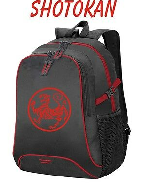 Sports backpack with embroidery SHOTOKAN karate, tiger.