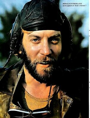 Donald Sutherland (Kelly's Heroes) Colour Pin Up Poster 11x8