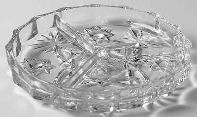 Anchor Hocking PRESCUT CLEAR 3 Part Relish Dish 6538163