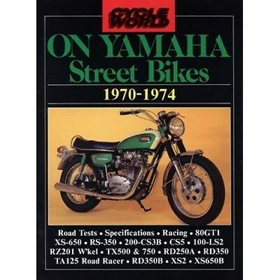 Cycle World On Yamaha Street Bikes 1970-1974 book paper motorcycle
