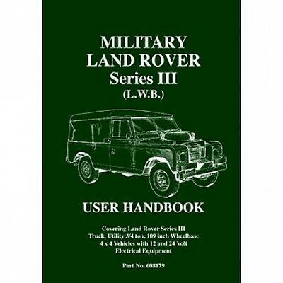 Military Land Rover Series III (L.W.B.) User Handbook book paper