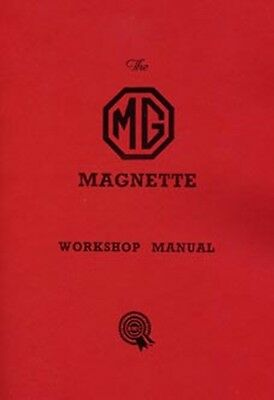 MG Magnette ZA to ZB 1953 to 56 shop manual book paper car