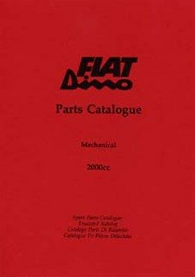 FIAT Dino parts manual book paper car
