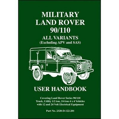 Military Land Rover 90/110 All Variants (Excluding APV and SAS) book paper