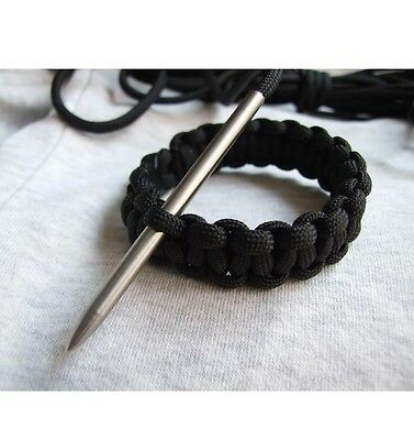 2 X 550 Paracord Needle With Screw Bracelet Survival Polished Steel Threaded 467