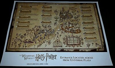 Universal Studios Hollywood Wizarding World of Harry Potter Preview Map - HTF