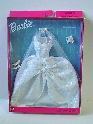 1999 Barbie Outfit ~  Fashion Avenue Beautiful Bride  ~ NEW in Box