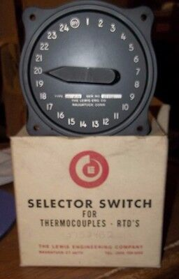 Lewis Engineering Selector Switch 24 Position 27S24B2  (Oo2)