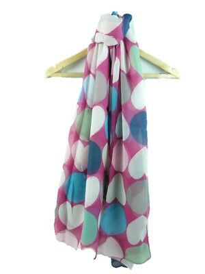 polka dot retro tie//wrap Pudsey white scarf with coloured spots spotted scarf