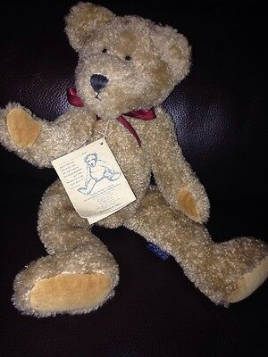 Boyd's JB Bean Collection Jointed Bear With Tag 1985-98 Brown Ribbon