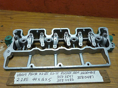 Volvo Penta D2-55 D2-75  Rocker Arm Assembly Arms Shaft & Bracket