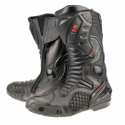 Xtrm Core Motorbike Motorcycle Racing Sports Armour Boots All Black Size Uk 5