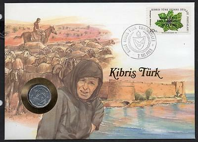 Cyprus 1983 Flowers Coin Cover