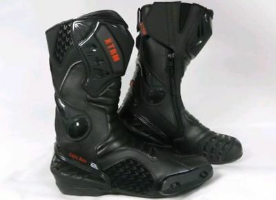 Xtrm Core Motorbike Motorcycle Racing Sports Armour Boots All Black Size Uk 12