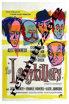 The Ladykillers - Alec Guinness - New collectable film poster postcard