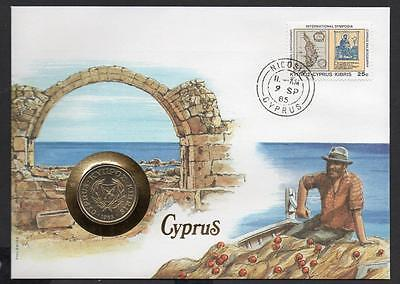 Cyprus 1985 Coin Cover