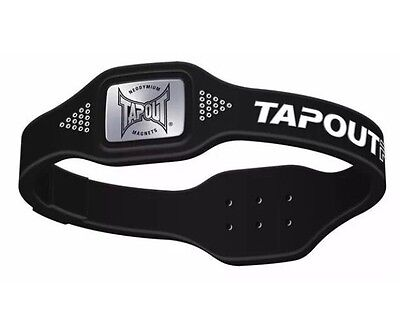 New Tapout Pro Real G Magnetic Power Silicone Band Size Xl Black Sport Wristband