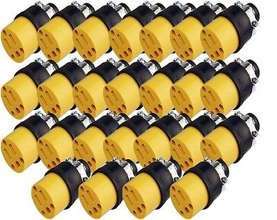 Lot of 25 Heavy Duty Female Replacement Electrical Plug, 3 Prong