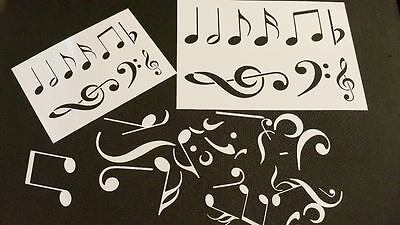 Music Musical Notes Clef Symbols Festive Event Decoration Airbrush Paint Stencil
