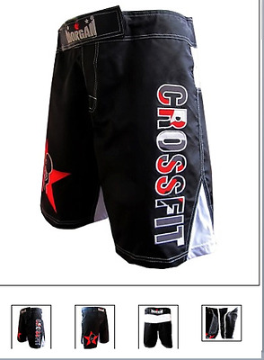 Morgan Crossfit Shorts Gym Fitness Mens Games S M L Xl Black New Pair Weights