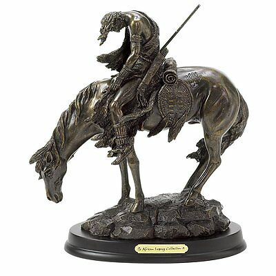 Gifts & Decor Bronze Finish The End of The Trail Hand Painted Statue Figure