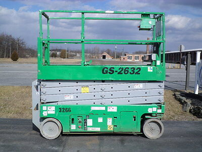 2006 Genie Gs2632 26' Electric Slab Scissor Lift Manlift 26Ft Platform Lift