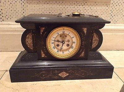 Late 19th Century French Beautiful Marble Mantle Clock