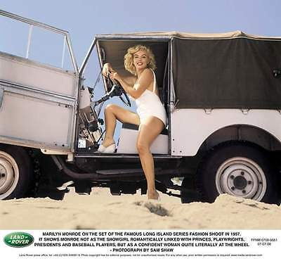 Classic Car Advert 1957 Marilyn Monroe Landrover Land Rover High Gloss A4 Print