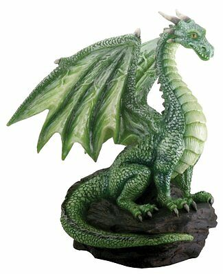 Green Dragon on Rock Sculpture