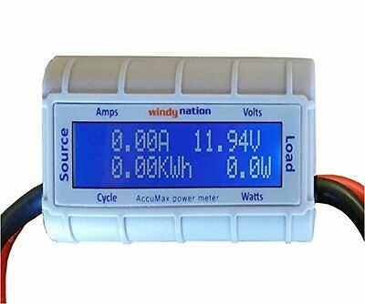 WindyNation AccuMax Watt Volt Ammeter Power Meter Analyzer Wind Solar RC...NEW