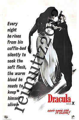 Dracula 1958 - Hammer Films - New collectable film poster postcard 1 (B)
