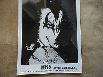 """Kiss """"attack Of The Phantoms"""" Promotional Press Kit Glossie Photo Rare Find #1"""