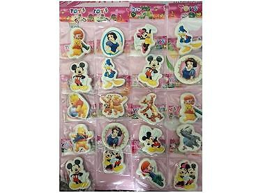 4 Eraser Rubber Stylish Girls Boy Loved & Favourite Disney Character