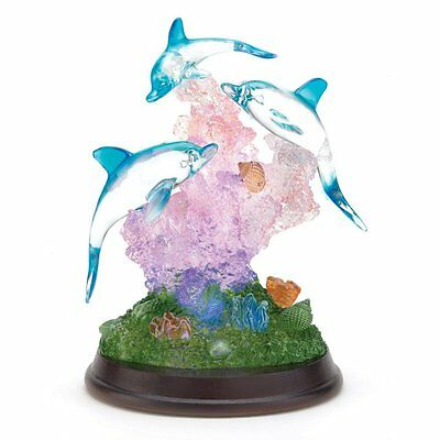 Gifts & Decor Light Up Dolphin Sculpture Figurine Desk Table Figure