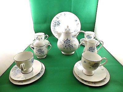 Noritake RC Ireland Blue Floral Tea Set