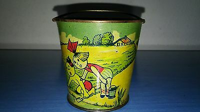 antique old rare vintage tin metal toy pail sand bucket felix the cat 1930/40 rs