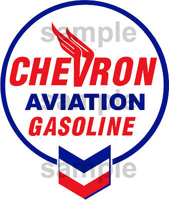 4 Inch Chevron Aviation Pump Gas Station Decal Sticker Several Sizes Available