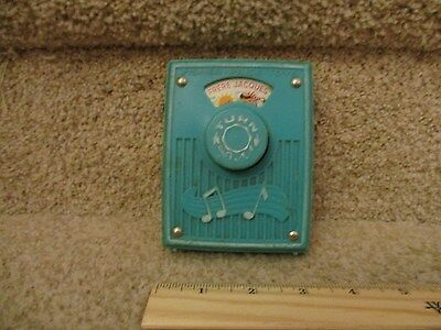 Vintage Fisher Price Pocket Radio Music Box works Frere Jacques are you sleeping