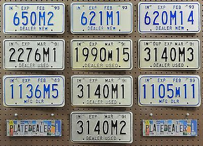 10 INDIANA Dealer License Plates Tags Hobbies Signs Decor Art Man Cave LOT 502