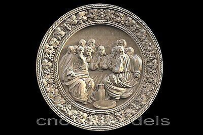 3D STL Models for CNC Router Engraver Carving Artcam Aspire Last Supper 295