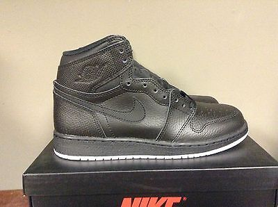 Nike Air Jordan 1 Retro Hi Og I Bg Gs Black/white 575441 002 Ships Now