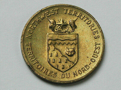 Canada Northwest Territories Coat-of-Arms Medal Token Coin Flower Mountain Avens