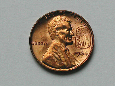 Four Score And Counterstamped 1964 Lincoln Cent Novelty Coin Countermarked Penny