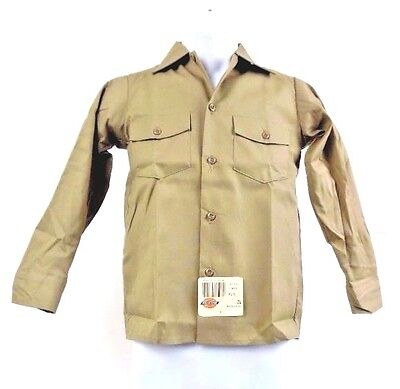 Dickies Boys Twill Long Sleeve Shirt Khaki - Sizes 6 , 8, 10, 12