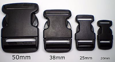 Side Release Buckle 2Pc 20mm, 25mm, 38mm, 50mm Available. Backpack / Tent Repair