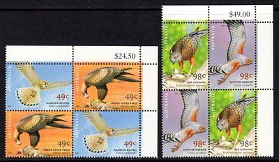 Australia - 2001 Birds of Prey Blocks of Four MNH   (Ref: 131)