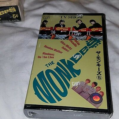 MONKEES japanese video SEALED OF TV SHOW  RARE