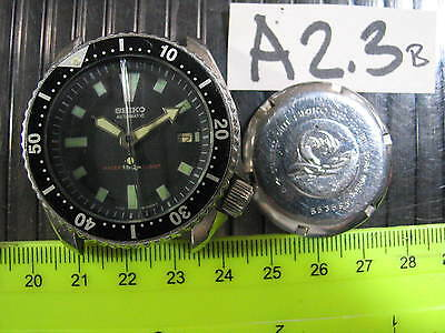 Vintage SEIKO DIVER 7002-7001 Automatic Gents Parts Watch RUN AsIs