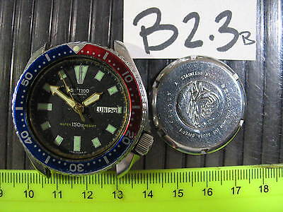 Vintage SEIKO DIVER 6309 Automatic Gents Parts Watch RUN AsIs